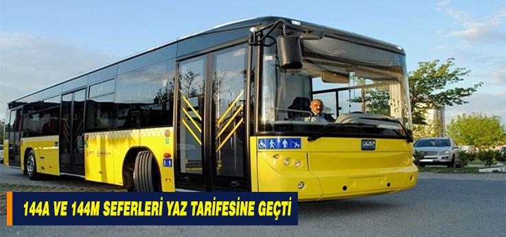 144M ve 144A Otobüs Hatları Yaz Sefer Tarifesine Geçti